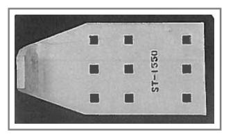 ST-1550 Steel Snow Plow Shoe