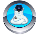 Picture of Blue Button and Polar Bear for Rock Salt and Ice Control HQ