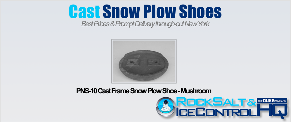 Picture of PNS-10 Cast Frame Snow Plow Shoe - Mushroom