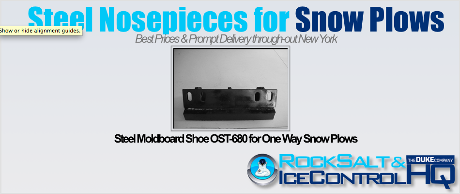 Picture of Steel Moldboard Shoe OST-680 for One Way Snow Plows
