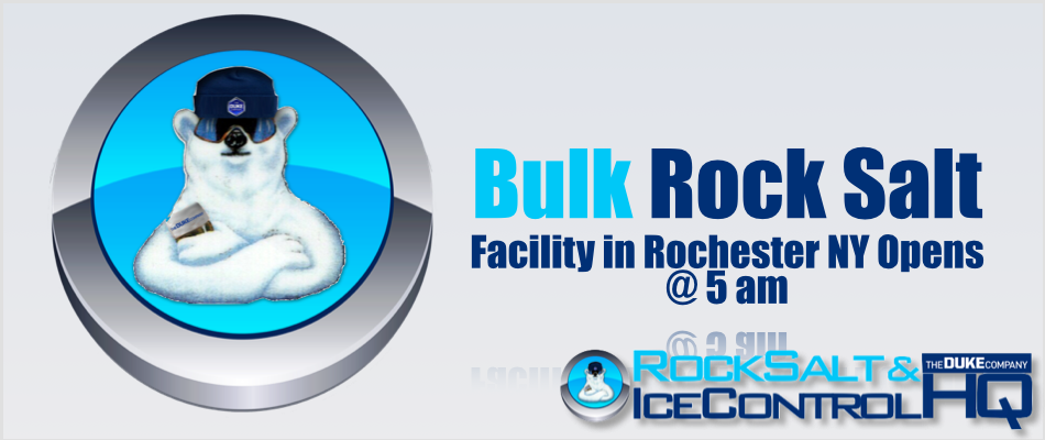 Picture of Rochester NY Bulk Rock Salt and Deicer Facility Opens @ 5 am