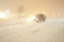 Pickup Truck Plowing Snow in Upstate New York